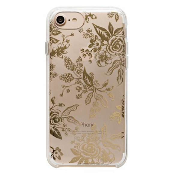 Rifle Paper Rifle Paper Co. iPhone 6, 7 & 8 Clear Case - Clear Gold Floral Toile