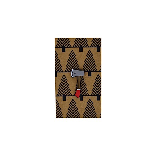 Collective IQ Design Cloisonne Pin - Hatchet
