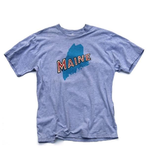 Daytrip Society Maine State T-Shirt - Heather Grey
