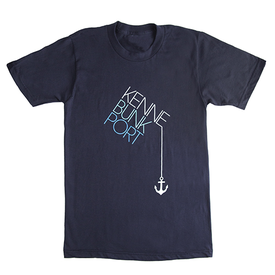 Andy West Design Kennebunkport Drop Anchor T-Shirt - Navy
