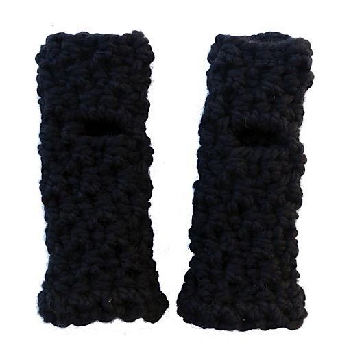 KraeO Logan Fingerless Gloves - Black