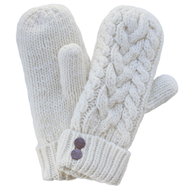 CherryTCo. CherryT Co. Classic Cable Knit Mittens