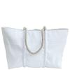 Sea Bags Custom Daytrip Society Compass Zip Top Tote - Hemp Handle - Large - White Zip