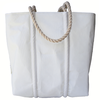 Sea Bags Custom Daytrip Society Compass Tote - Hemp Handle - Medium - White Zip