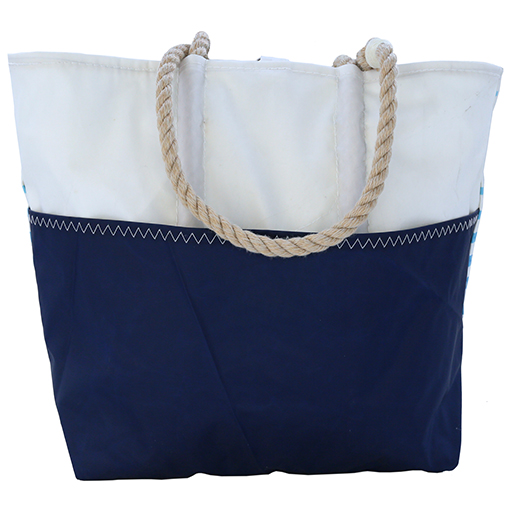 Sea Bags Custom Daytrip Society Ombre Stripe Tote - Hemp Handle White Whipping - Medium