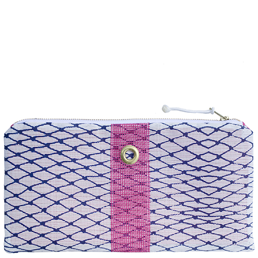 Alaina Marie Bait Bag Clutch - Navy & Pink