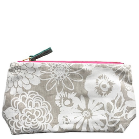 Erin Flett Erin Flett Linen Zip Make Up Bag