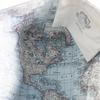 Sea Bags Custom Daytrip Society World Map Tote - Hemp Handles - Large