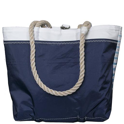 Sea Bags Custom Daytrip Society Ombre Stripe Tote - Hemp Handle White Whipping - Handbag