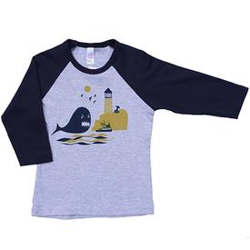 Pinecone and Chickadee Pinecone + Chickadee Kids Whale Baseball Jersey