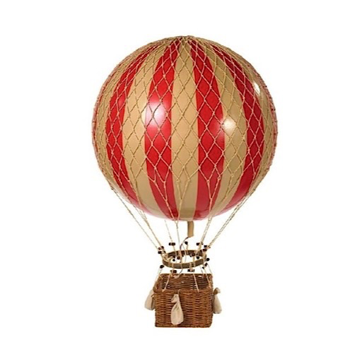 Authentic Models Hot Air Balloon Royal Aero - Red - 32cm
