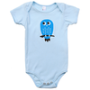 Pinecone + Chickadee Blue Owl Baby Onesie