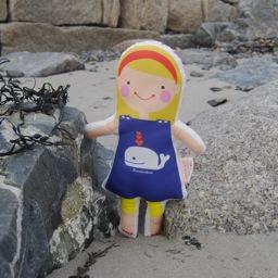 Sophie & Lili Kennebunkport Custom Doll Headband Blonde - Whale Dress