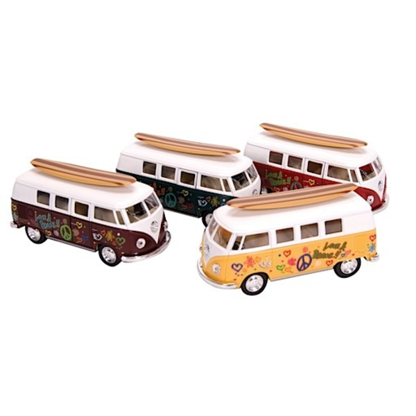 Schylling Die Cast 1962 VW Bus & Surfboard
