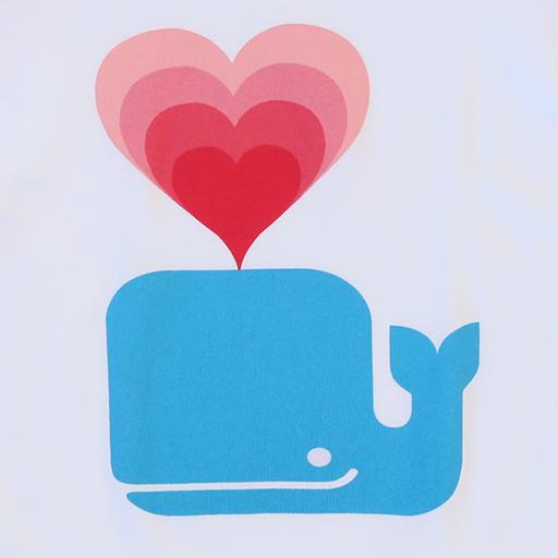 Whale Love Kids Baseball T-shirt - 3/4 inch Sleeves