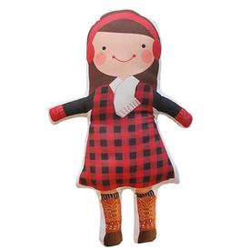Sophie & Lili Sophie & Lili Kennebunkport Custom Doll Earmuff Brunette - Lumberjack Dress