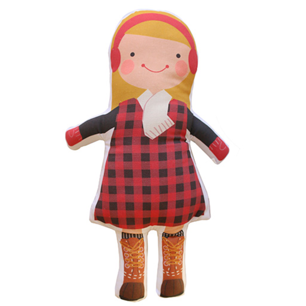 Sophie & Lili Sophie & Lili Kennebunkport Custom Doll Earmuff Blonde - Lumberjack Dress