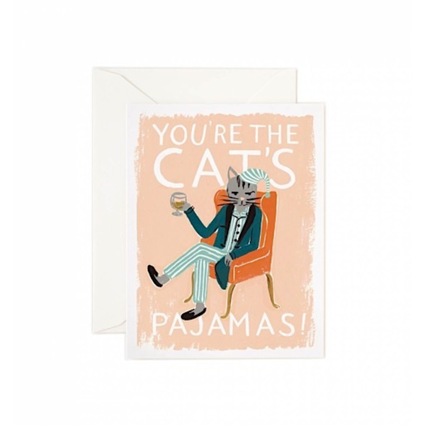 Rifle Paper Rifle Paper Co. Card - You're the Cat's Pajamas