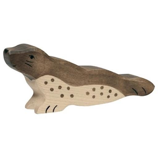Holztiger Wooden Harbor Seal