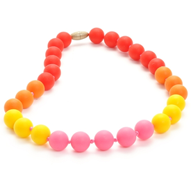 Chewbeads Chewbeads Bleeker Jr Necklace - Punchy Pink