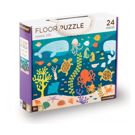 Petit Collage Petit Collage Floor Puzzle Ocean Life - 24 Pieces