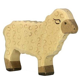 Holztiger Holztiger Wooden Sheep - White Sheep Standing