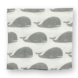 Milkbarn Milkbarn Organic Cotton Swaddling Blanket - Gray Whale