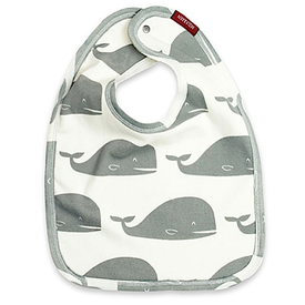 Milkbarn Milkbarn Organic Cotton Bib - Gray Whale