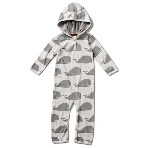 Milkbarn Milkbarn Organic Cotton Hooded Romper