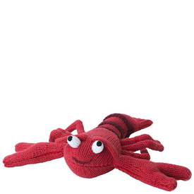Zubel Knit Lobster Rattle - 7 inch