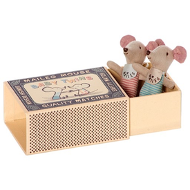Maileg Maileg Mouse - Twins in a Box - Polka Dot