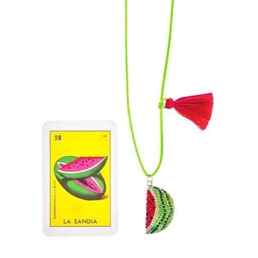 Little Lux Little Lux Watermelon Love Necklace