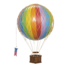 Hot Air Balloon Travels Light - Rainbow - 18 cm