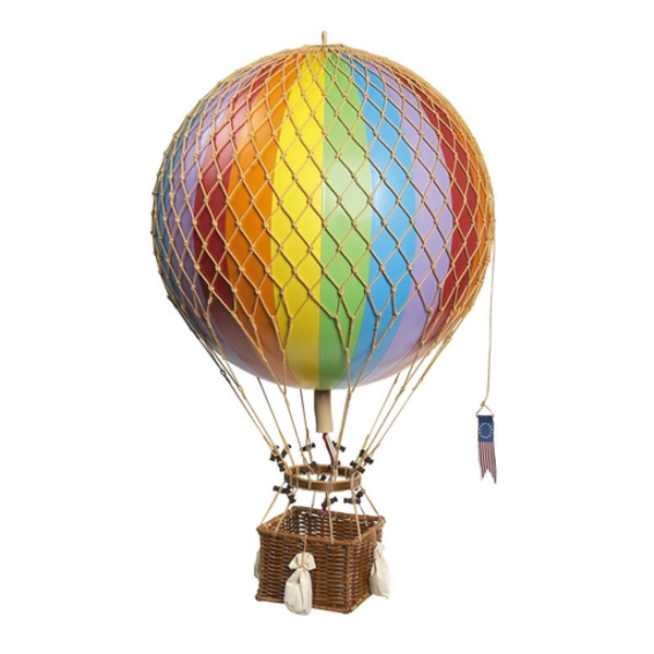 AM Furniture Hot Air Balloon Royal Aero - Rainbow - 32 cm