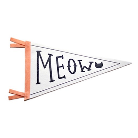 Strawberry Moth Strawberry Moth Wool Pennant Flag - Meow