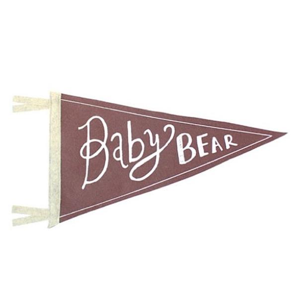 Strawberry Moth Strawberry Moth Wool Pennant Flag - Baby Bear