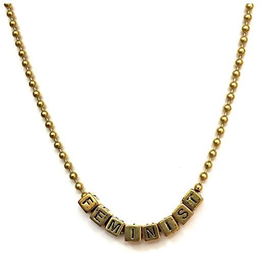 Little Lux LIttle Lux Feminist Necklace