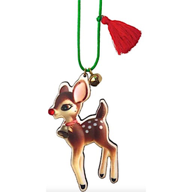 Gunner & Lux Gunner & Lux Holiday Reindeer Necklace