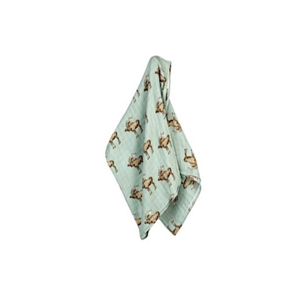 Milkbarn Milkbarn Bamboo/Cotton Swaddle Blanket - Moose