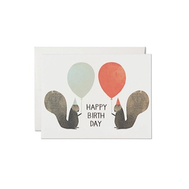 Red Cap Cards Red Cap Cards Party Squirrels BIrthday Card