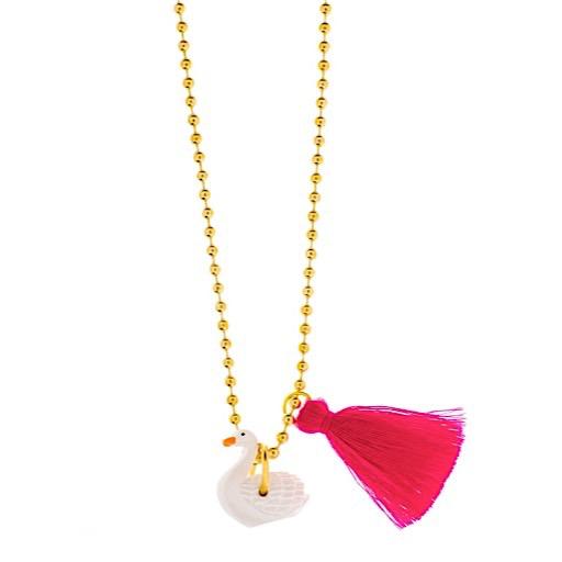 Little Lux Little Lux Odette Swan Necklace