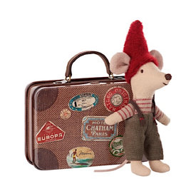 Maileg Maileg Mouse - Christmas Mouse in Travel Suitcase