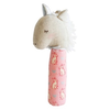 Alimrose Yvette Unicorn Squeaker - Pink & Silver