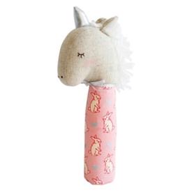 Alimrose Alimrose Yvette Unicorn Squeaker - Pink & Silver