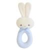Alimrose Bunny Grab Rattle - Blue Stripe