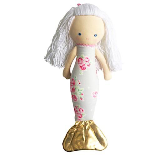 Alimrose Mermaid Doll - Grey