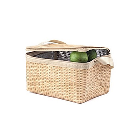 Kikkerland Wicker Lunch Box
