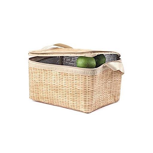 Kikkerland Wicker Lunch Box