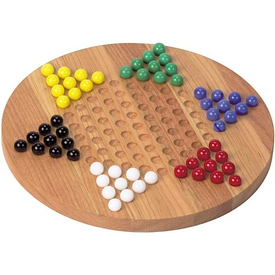 Maple Landmark Chinese Checkers - Standard