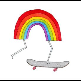 Tattly Tattly Tattoo 2-Pack - Rainbow Skateboard